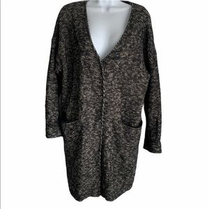 Madewell Wool Blend Oversized Cardigan Size Small